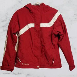 Columbia Ski Jacket Red White Accent Sz Med